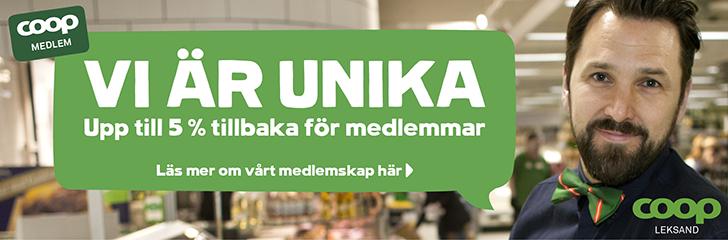 Annons för Coop Leksand