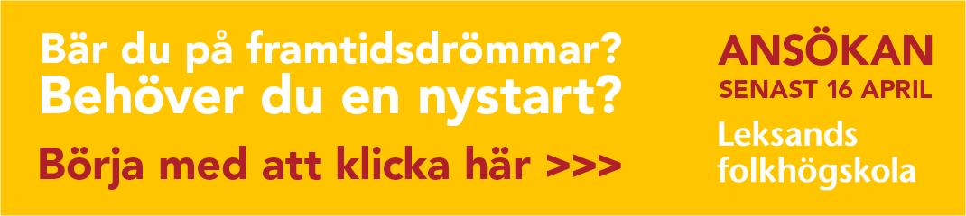 Annons för Leksands folkhögskola
