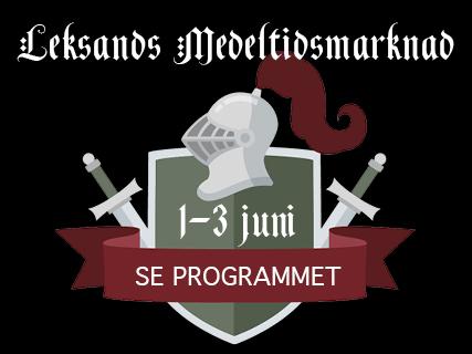 Annons för Leksands medeltidsmarknad