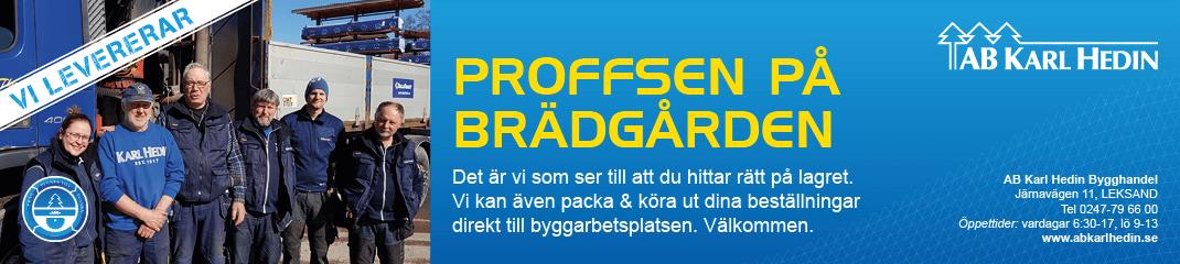 Annons för Karl Hedin